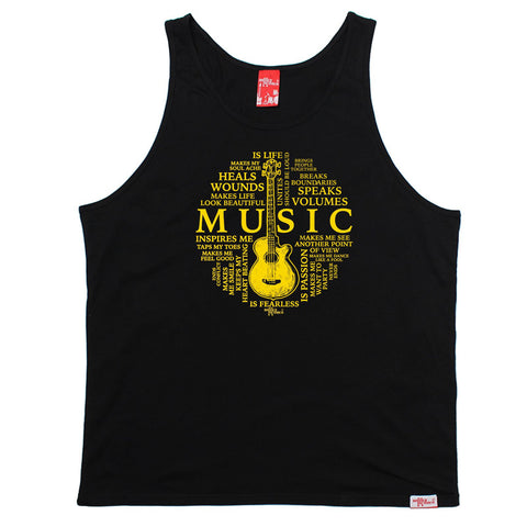 BM Music Is My Life Guitar Design  - VEST TOP Funny Christmas Casual Birthday Tank