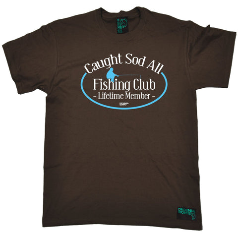 Drowning Worms -  Men's Caught Sod All Fishing Club Lifetime Member T-SHIRT