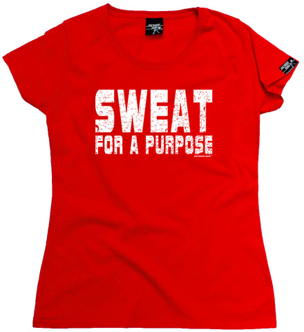 Women's Personal Best - Sweat For A Purpose Fitted T-Shirt Casual Funny Jogging Running Top