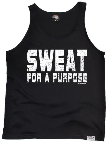 Unisex Personal Best - Sweat For A Purpose Vest Top Casual Funny Jogging Running Tank