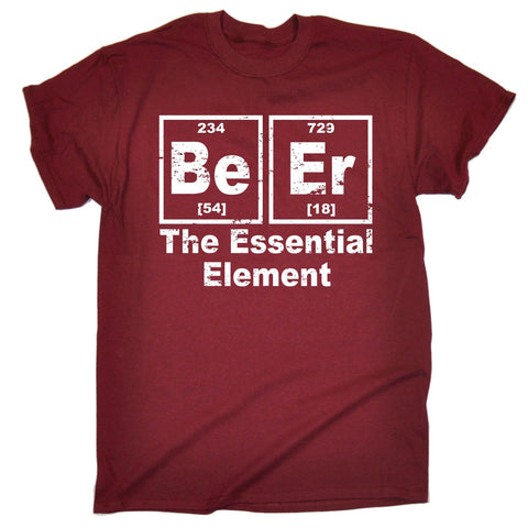 fonfella Men's Beer The Essential Element T-SHIRT Funny