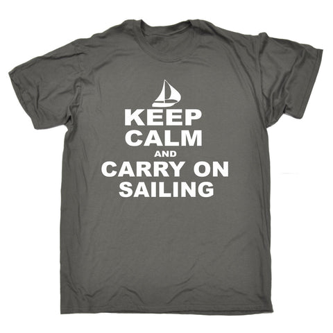Slogan Keep Calm and Carry On T-ShirtFunny Gift