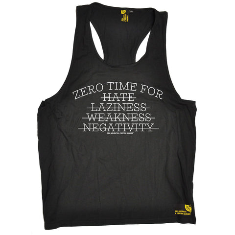 SWPS -  Men's Zero Time For Hate Laziness Weakness Negativity - TANK TOP