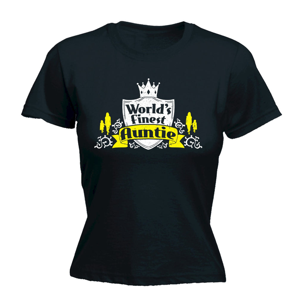 Women's WORLD'S FINEST AUNTIE  - FITTED T-SHIRT