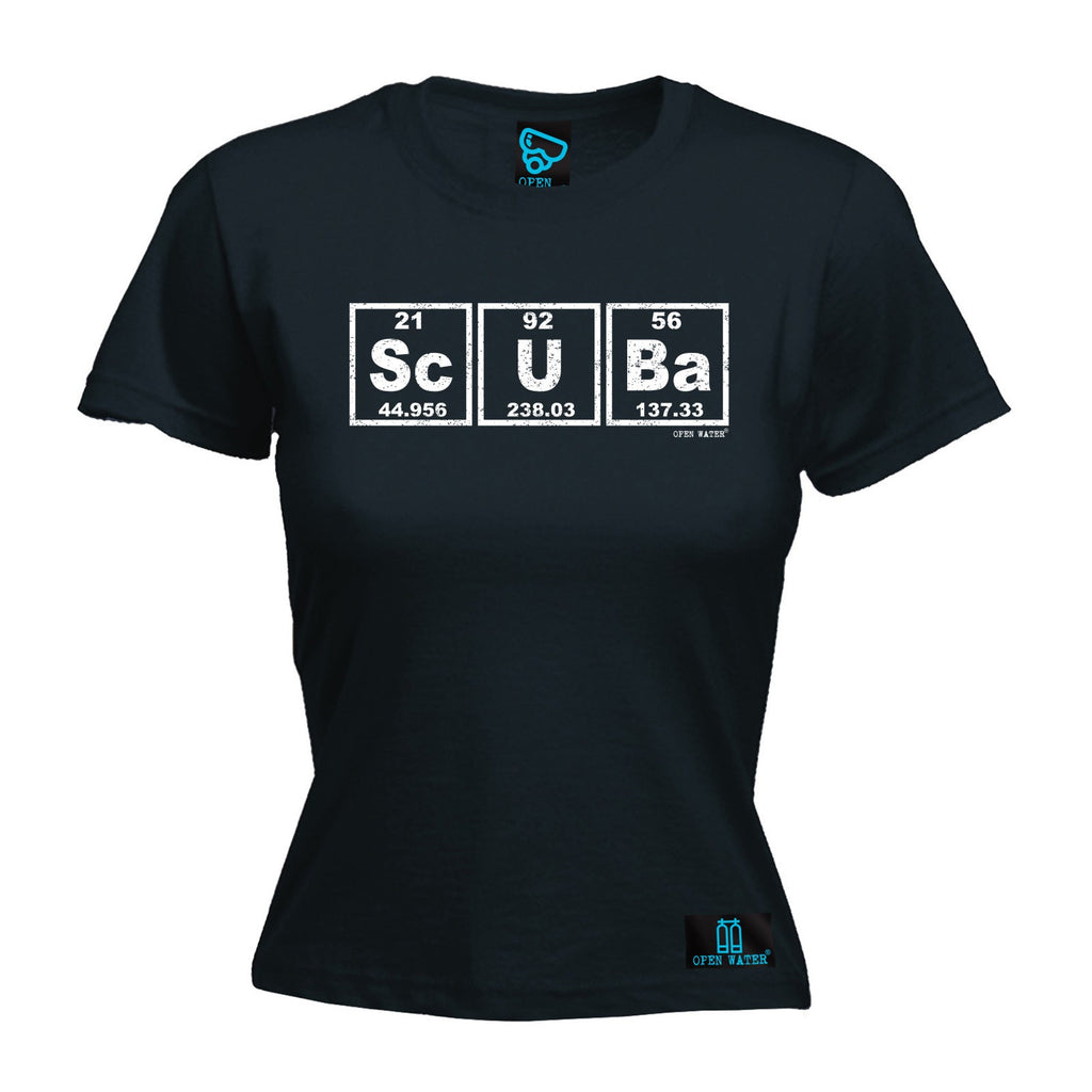 Open Water Women's Scuba Periodic Elements Design - FITTED T-SHIRT