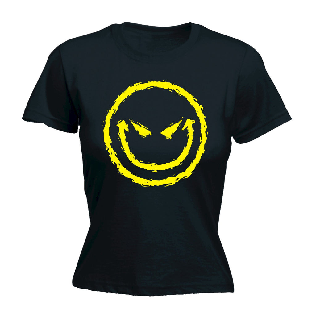 Evil Smiley Face - Women's Fitted T Shirt