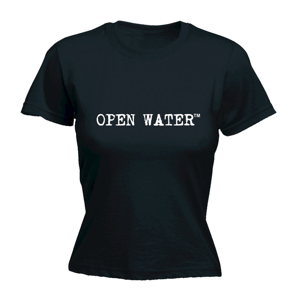 LADIES OPEN WATER - WHITE LOGO - NEW PREMIUM FITTED T-SHIRT (VARIOUS COLOURS) - S M L XL 2XL - by Slogans