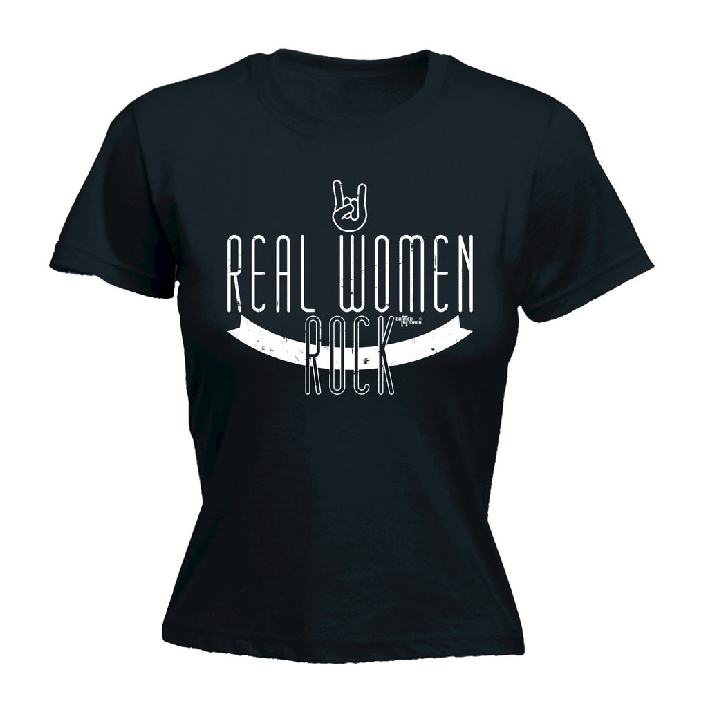 BM Women's Real Women Rock - FITTED T-SHIRT