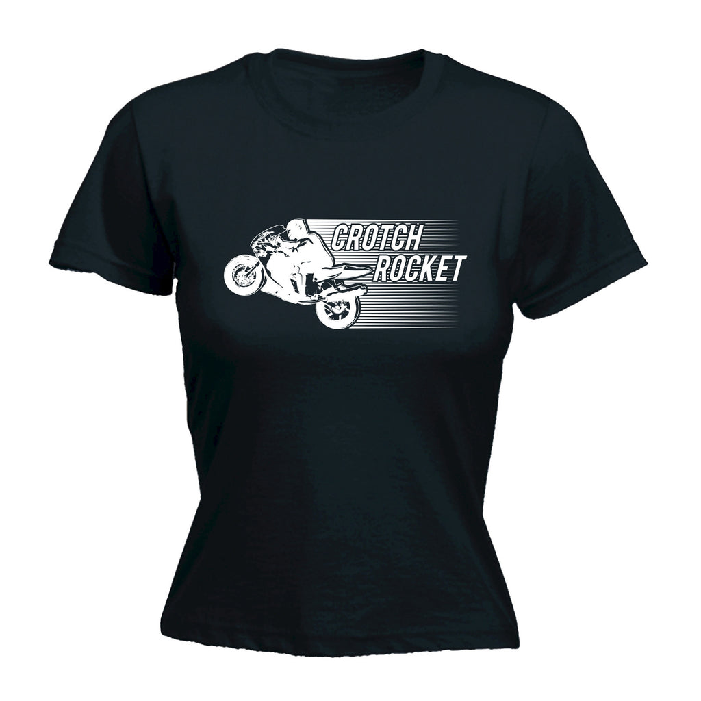 Slogans Women's CROTCH ROCKET ... SUPERBIKE DESIGN  - FITTED T-SHIRT