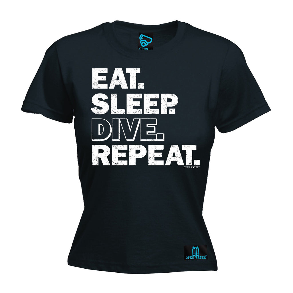 Open Water Women's Eat Sleep Dive Repeat - FITTED T-SHIRT