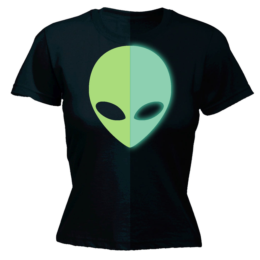 Glow In The Dark ... Alien Design - FITTED T-SHIRT