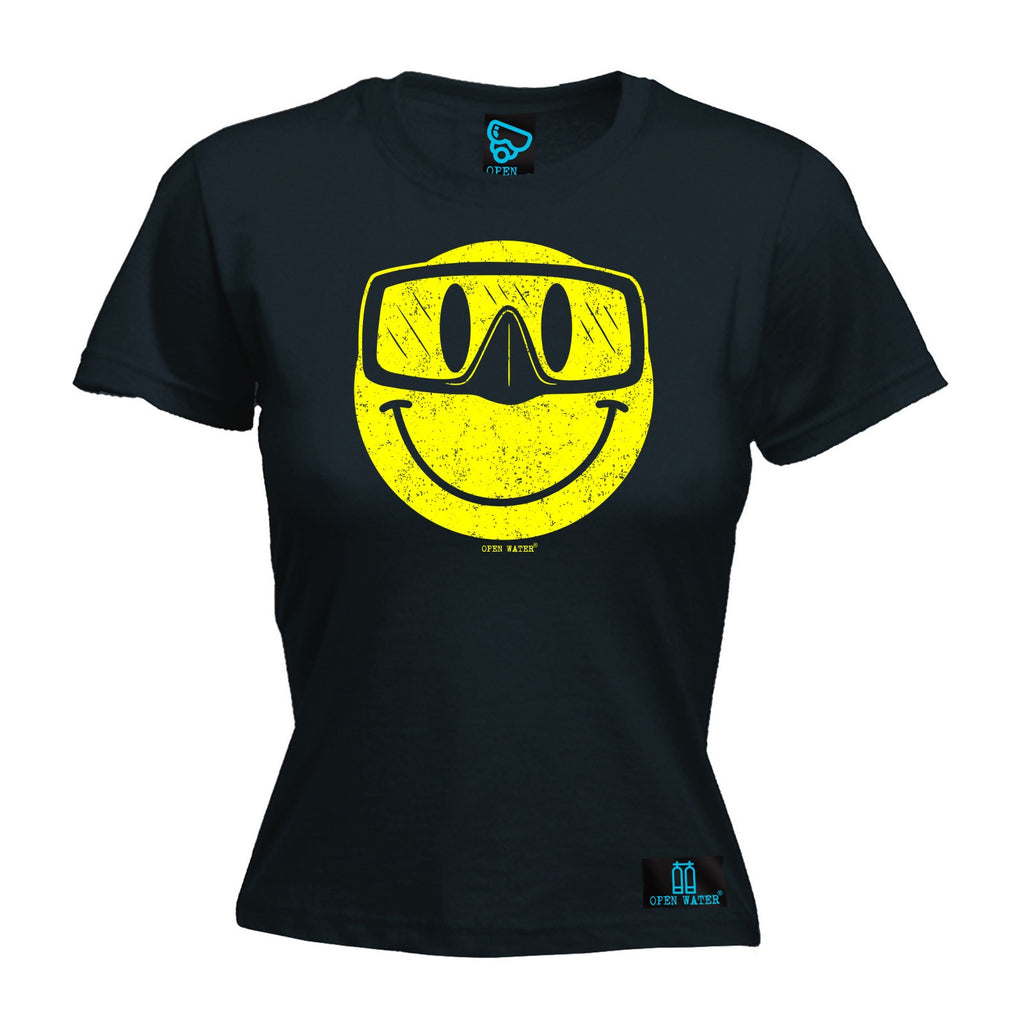 Open Water Women's Smiley Goggles Design - FITTED T-SHIRT