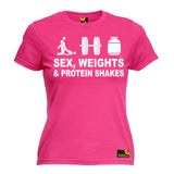 SWPS Premium -  Women's Sex Weights & Protein Shakes ... D3 - FITTED T-SHIRT