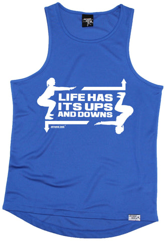 Men's Personal Best - Life Has Its ups And Downs Training Vest Casual Funny Jogging Running Tank
