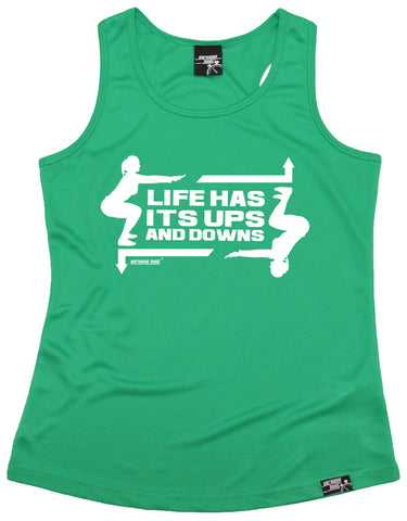 Women's Personal Best - Life Has Its ups And Downs Girlie Training Vest