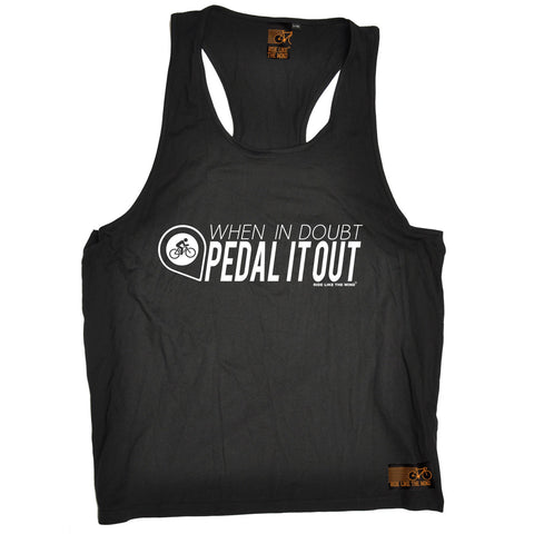 RLTW -  Men's When In Doubt Pedal It Out  - TANK TOP