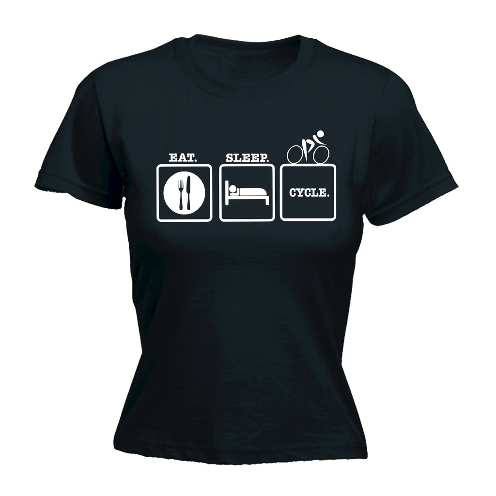 Eat Sleep Cycle - FITTED T-SHIRT