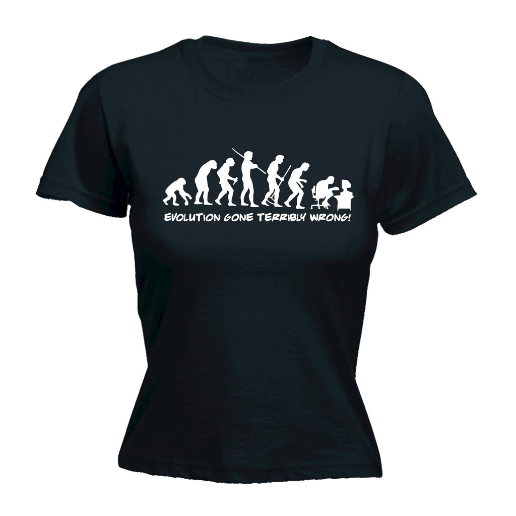 Evolution Gone Terribly Wrong ... Computer Design - FITTED T-SHIRT
