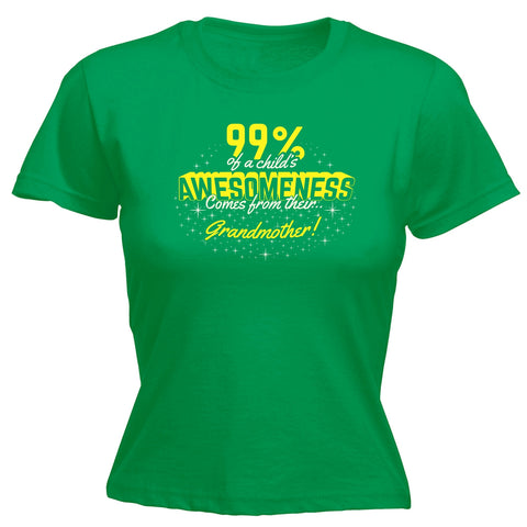 99% ... Awesomeness ... Their Grandmother - FITTED T-SHIRT