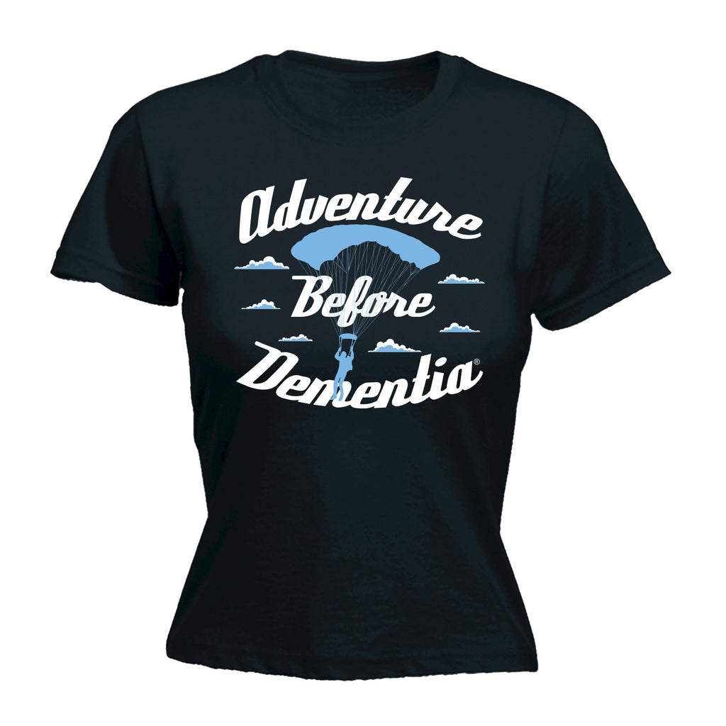 Women's Adventure ... Parachute Graphic Design - FITTED T-SHIRT