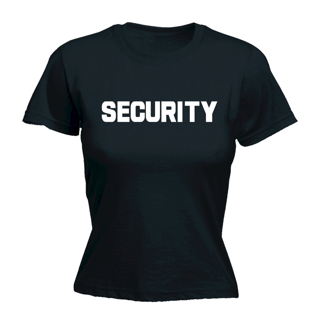 Security ... Chest & Back - FITTED T-SHIRT
