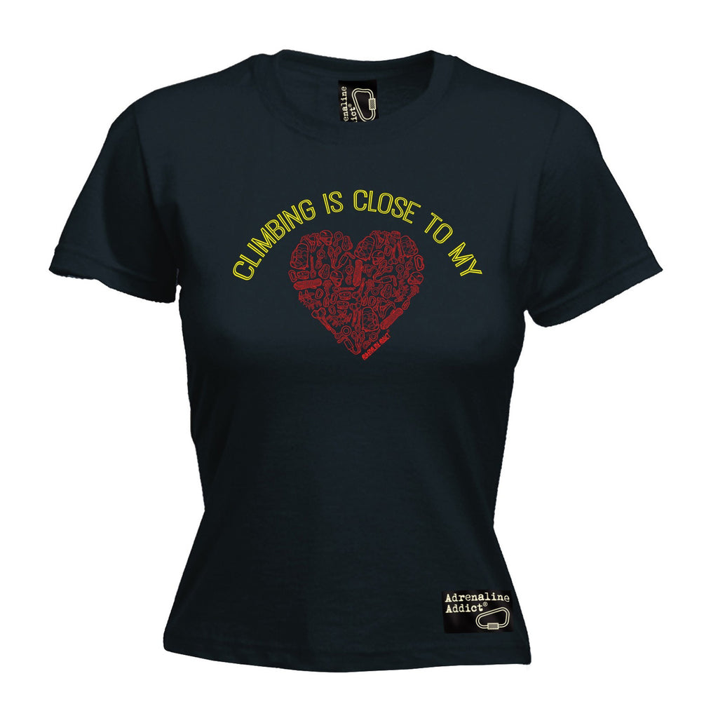 AA Premium -  Women's Climbing Is Close ... Heart - FITTED T-SHIRT