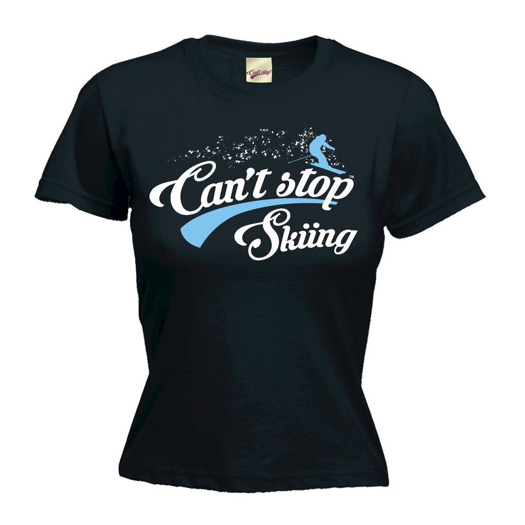 Women's Can't Stop Skiing - FITTED T-SHIRT
