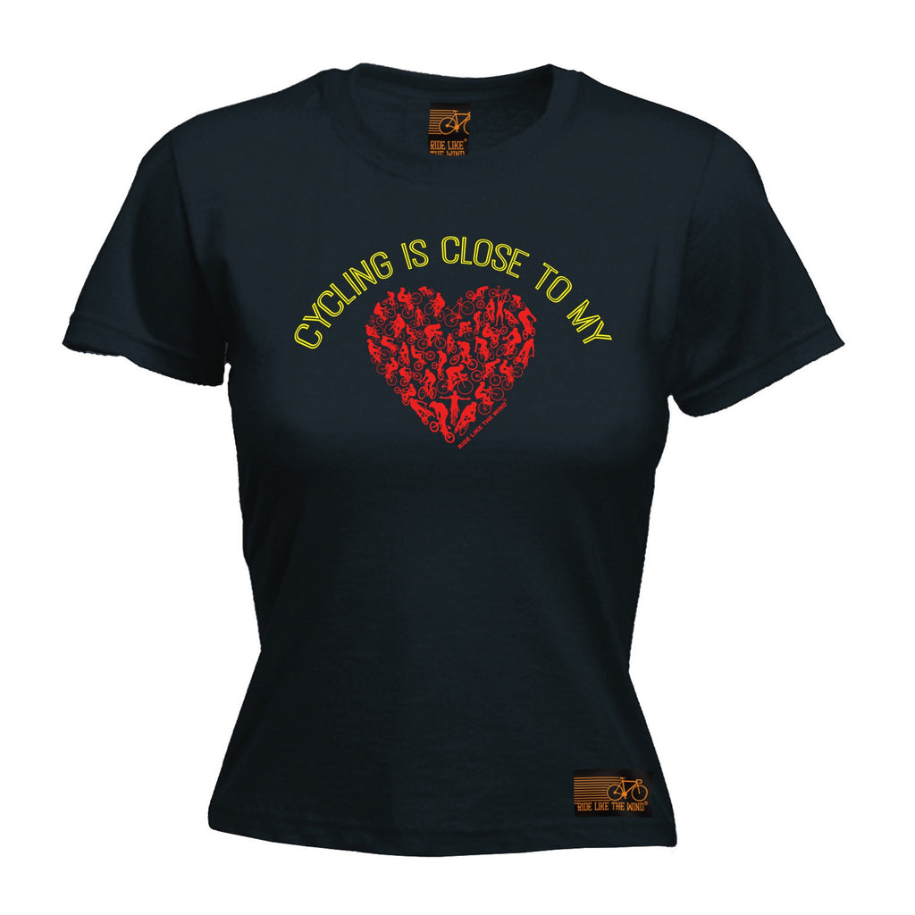 RLTW Premium -  Women's Cycling Is Close ... Heart - FITTED T-SHIRT