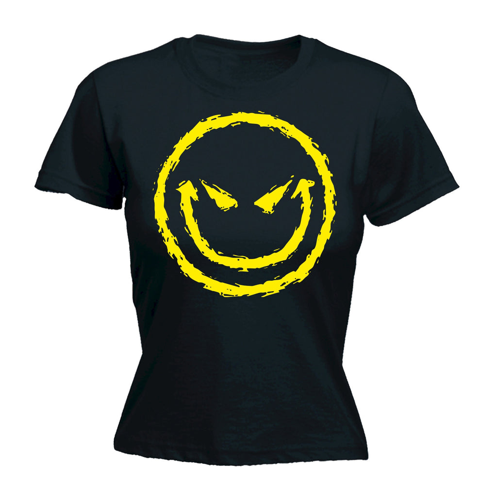 Women's Evil Smiley Design - FITTED T-SHIRT