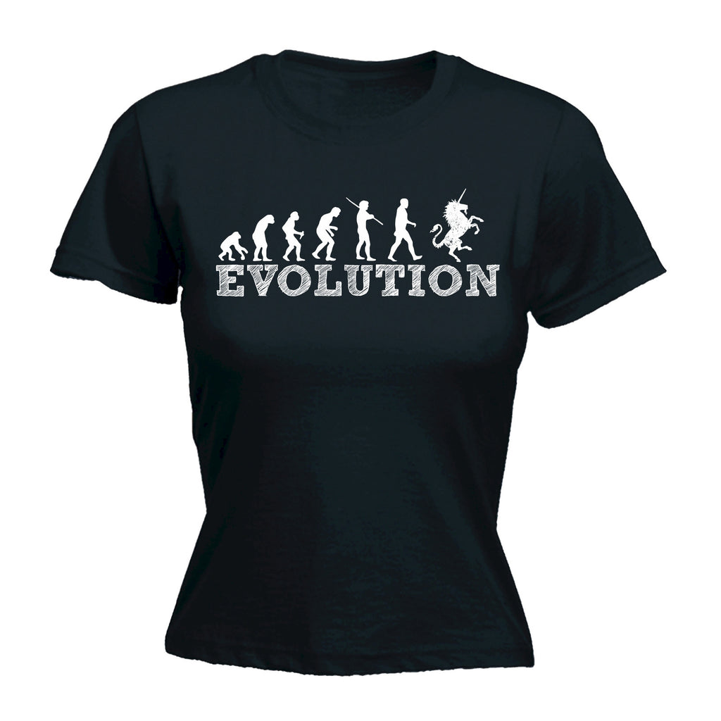 Women's Evolution Unicorn - FITTED T-SHIRT
