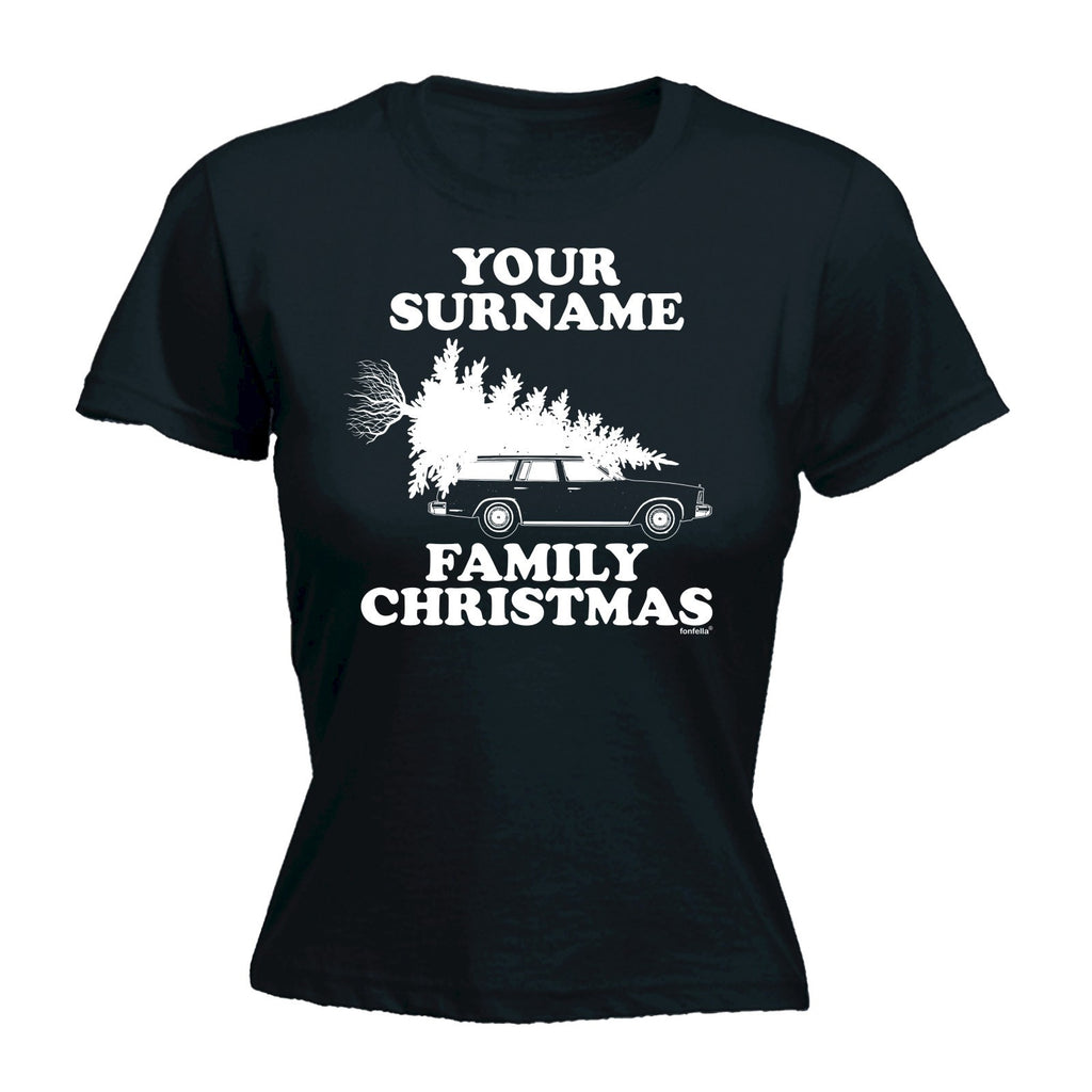 YOUR PERSONALISED SURNAME FAMILY CHRISTMAS DESIGN Fitted T-Shirt