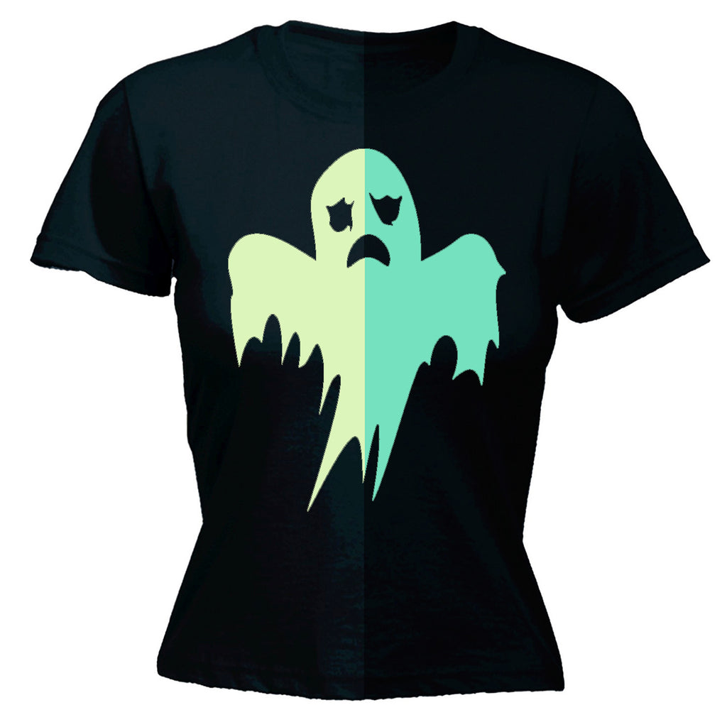 glow in the dark SlogansWomen's GLOW IN THE DARK GHOST - FITTED T-SHIRT