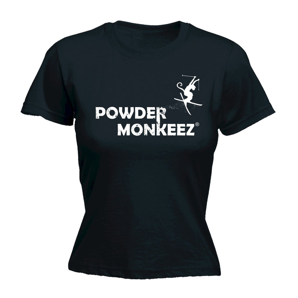 POWDER MONKEEZ Women's POWDER MONKEEZ HORIZONTAL - FITTED T-SHIRT