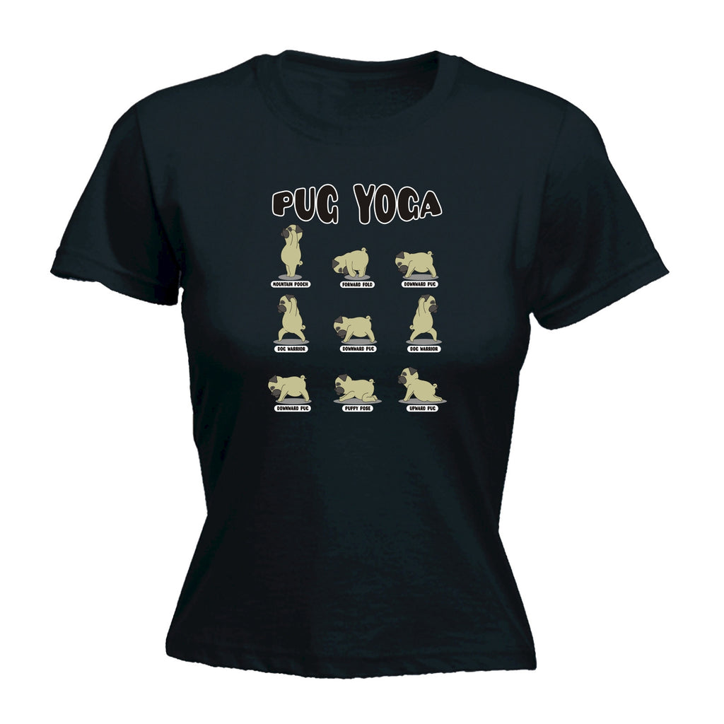 Pug Yoga - FITTED T-SHIRT