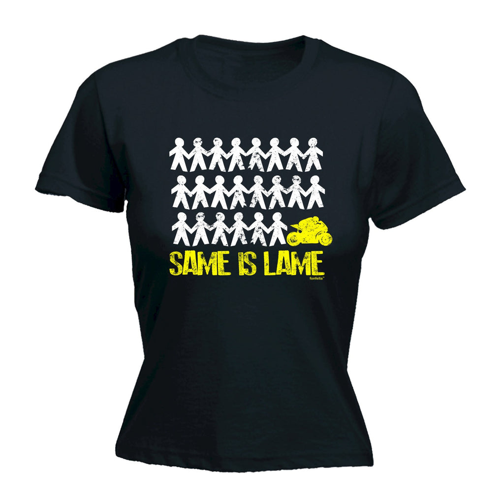 LADIES SAME IS LAME SUPERBIKE - NEW PREMIUM FITTED T-SHIRT