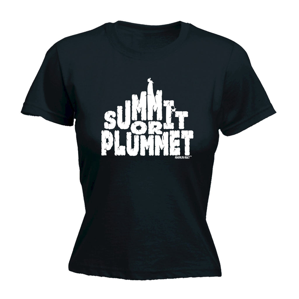 SUMMIT OR PLUMMET Fitted T-Shirt