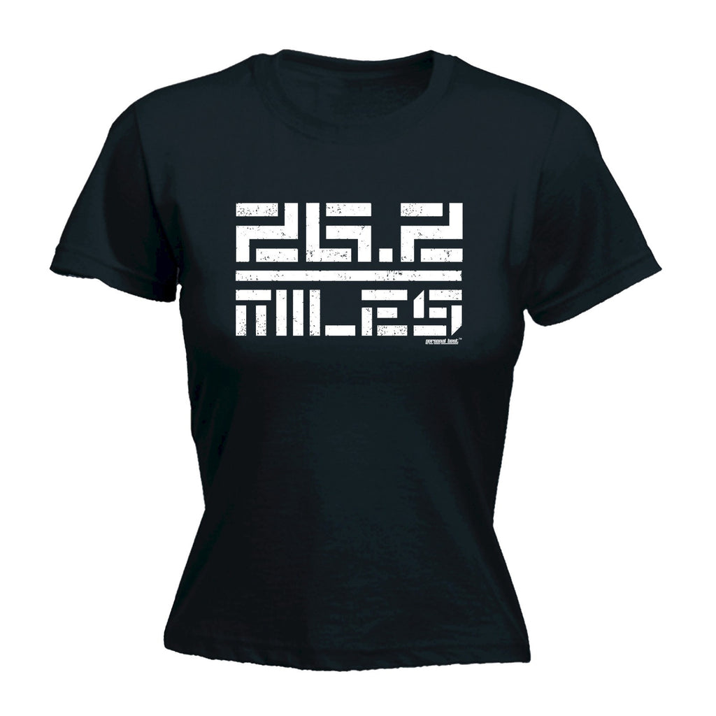 26.2 MILES ... BLOCKS DESIGN Fitted T-Shirt