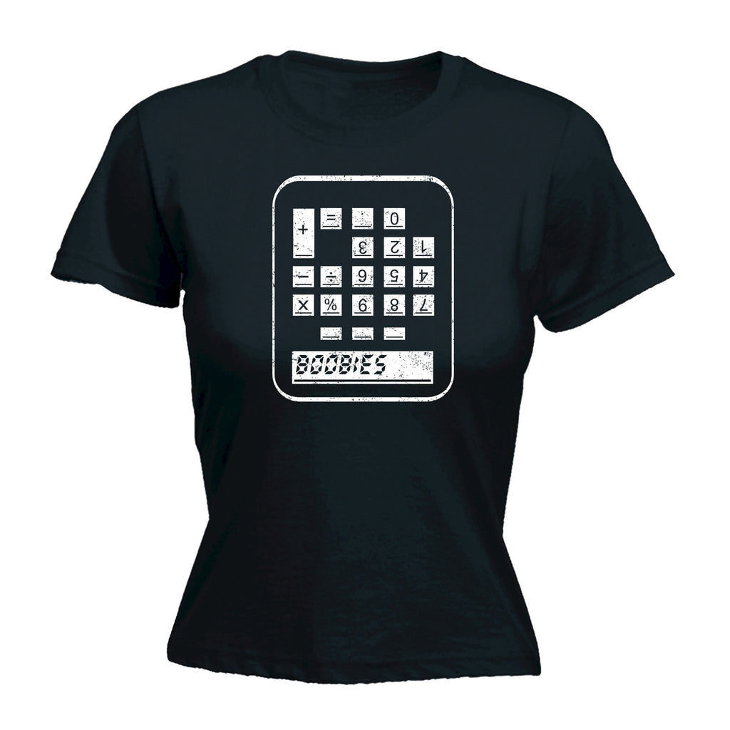 BOOBIES CALCULATOR - - Women's Fitted T-SHIRT