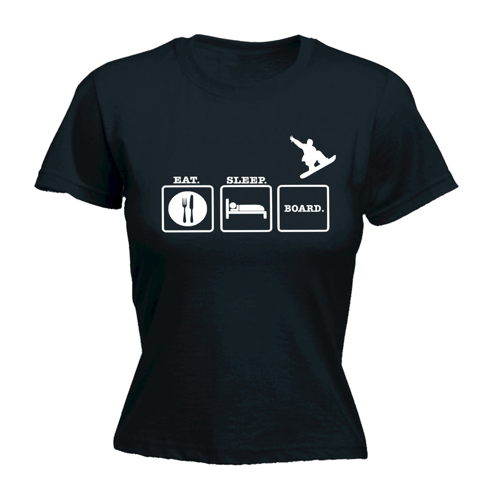 Women's EAT SLEEP BOARD - FITTED T-SHIRT