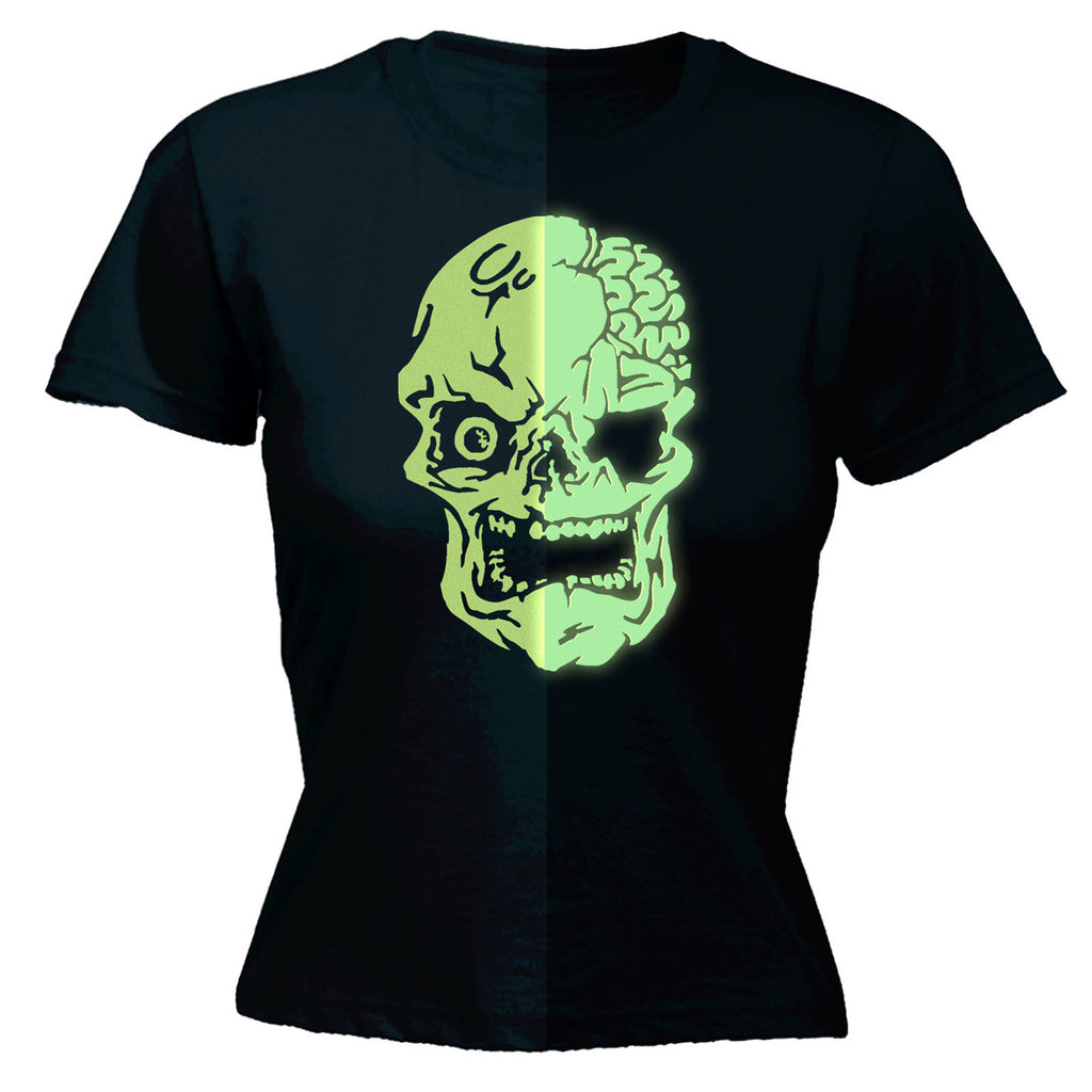 Glow In The Dark ... Skull Design - FITTED T-SHIRT