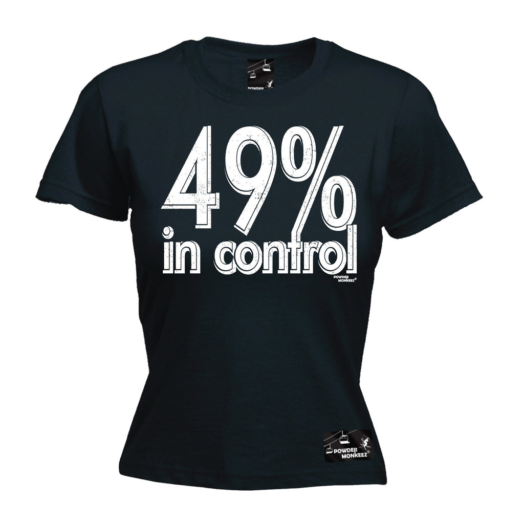 Powder Monkeez Premium Apres -  Women's 49% In Control - FITTED T-SHIRT