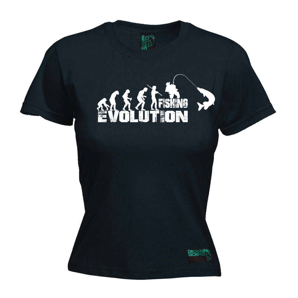 Drowning Worms Women's Evolution Fishing - FITTED T-SHIRT