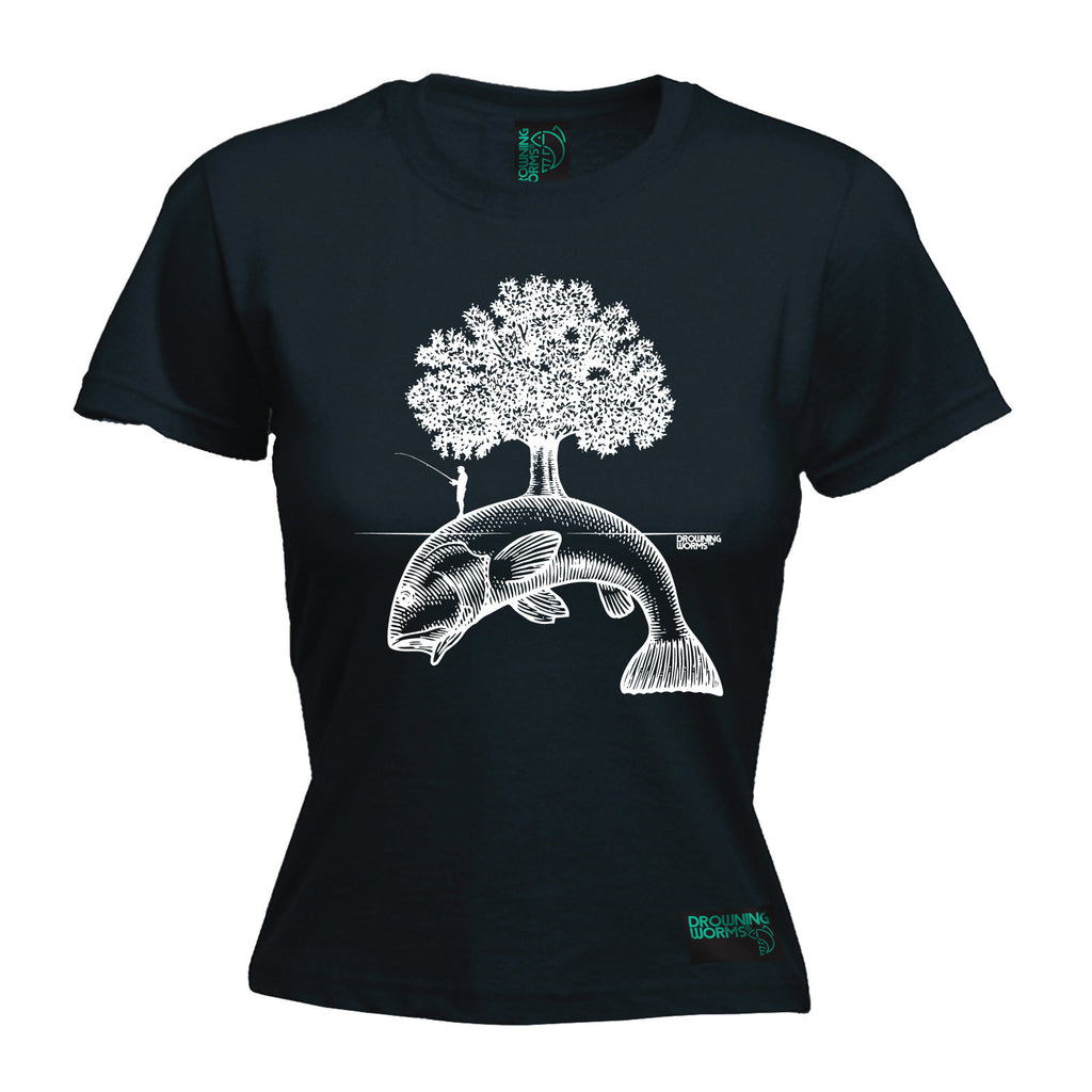 Drowning Worms Women's Fish Island Tree - FITTED T-SHIRT