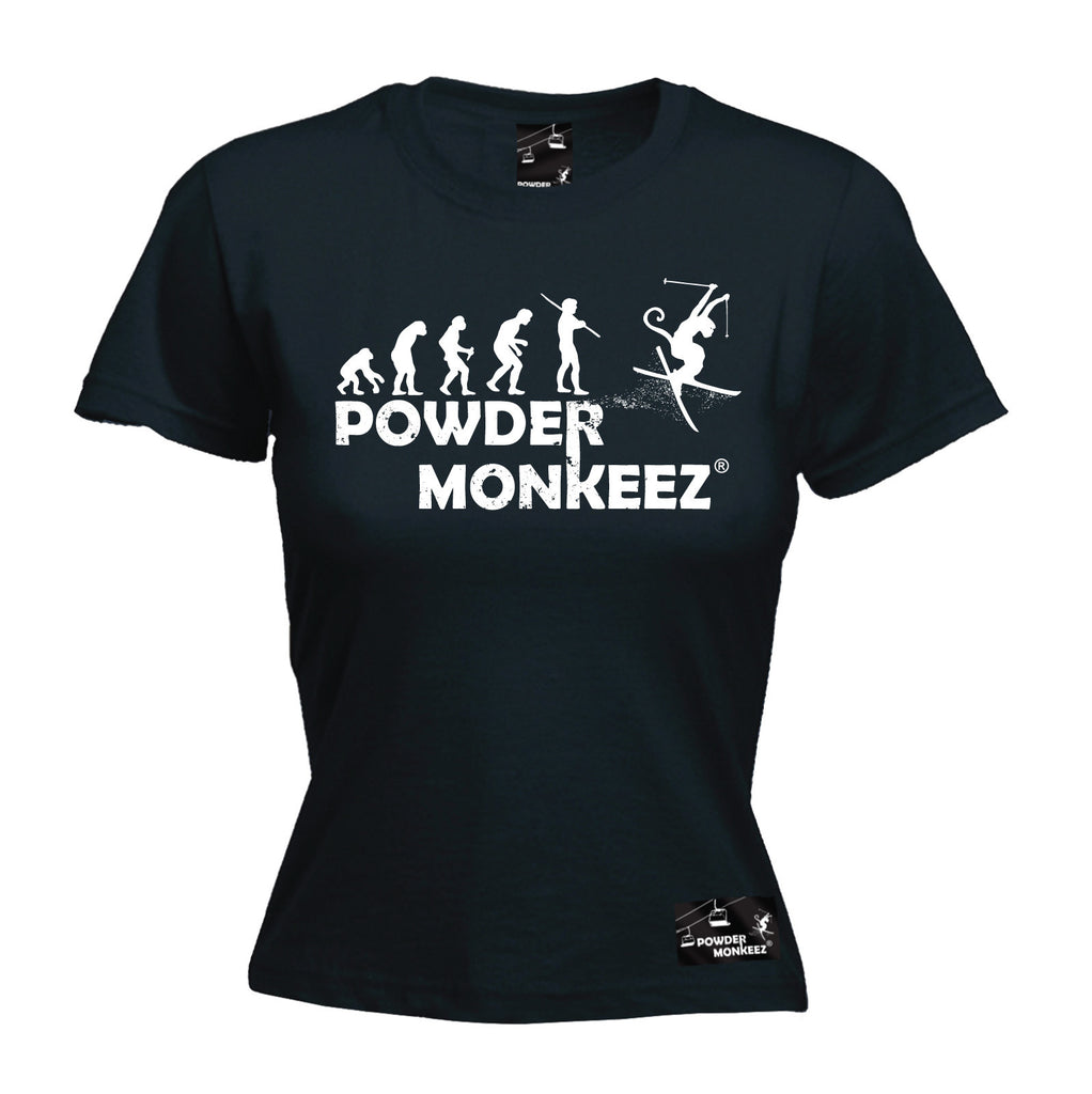 Powder Monkeez Premium Apres -  Women's Evolution Powder Monkeez - FITTED T-SHIRT