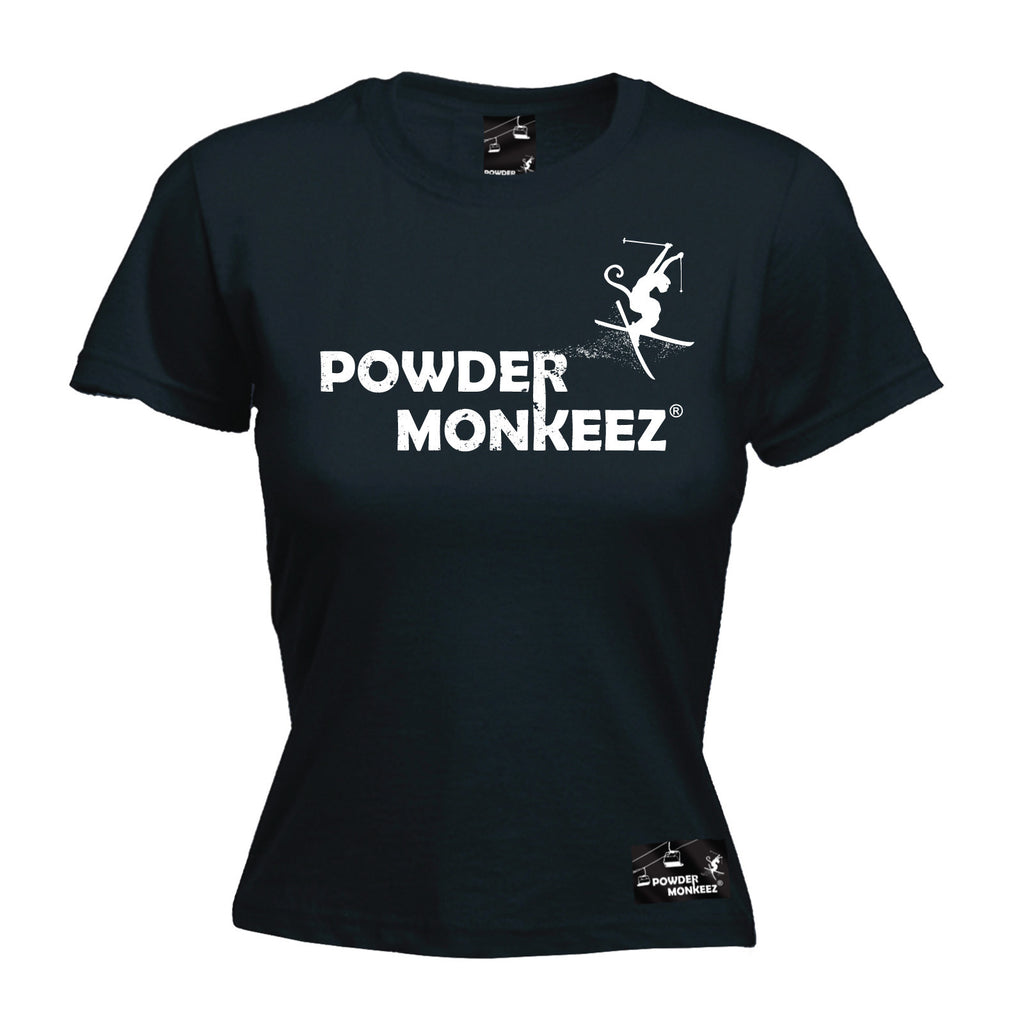 Powder Monkeez Premium Apres -  Women's Powder Monkeez ... Horizontal Design - FITTED T-SHIRT