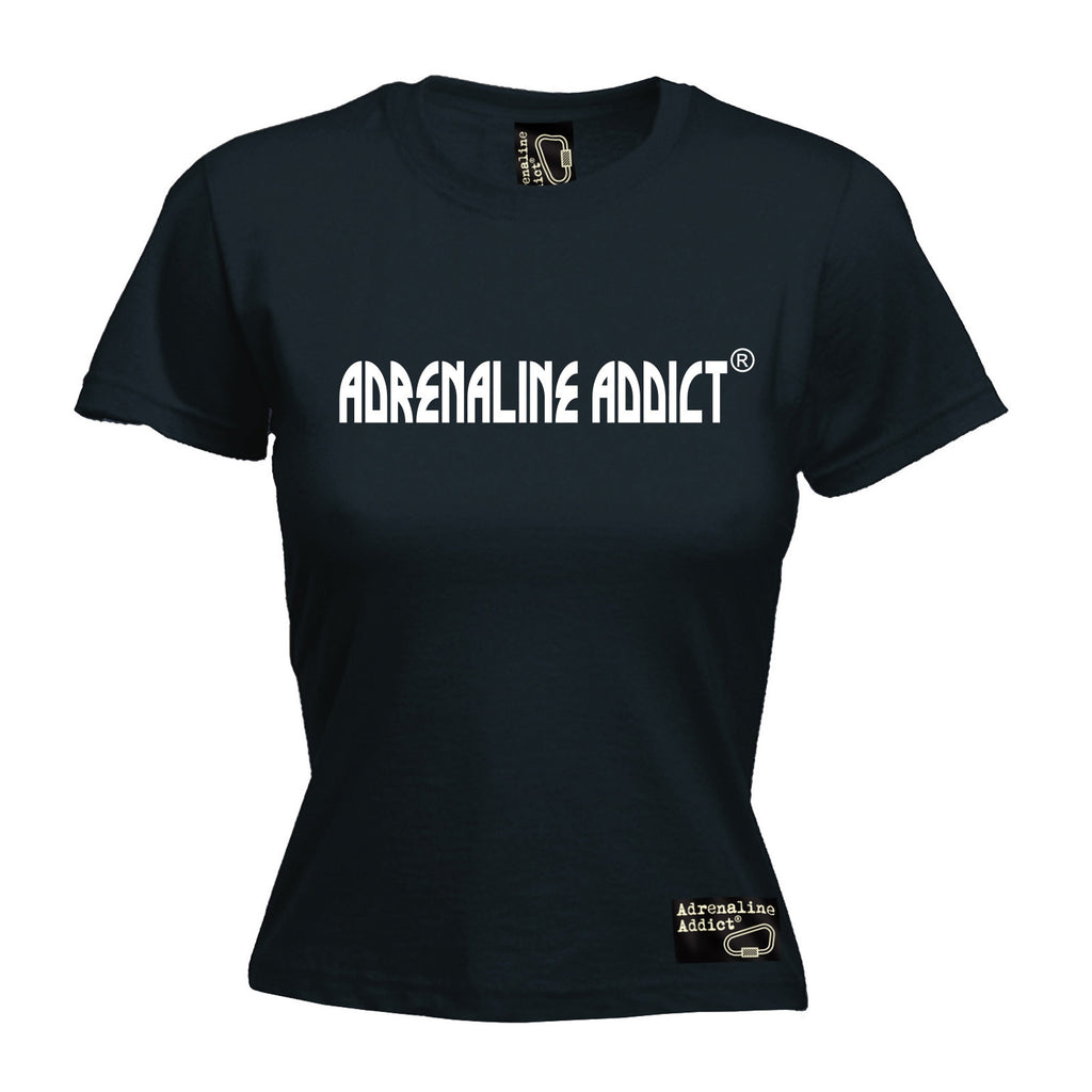 Women's Adrenaline Addict Premium ... Horizontal Design - FITTED T-SHIRT