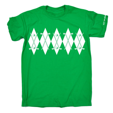 OUT OF BOUNDS - ARGYLE - NEW PREMIUM LOOSE FIT BAGGY T-SHIRT - funny slogan tee (VARIOUS COLOURS) - S M L XL 2XL 3XL 4XL 5XL - by 123t