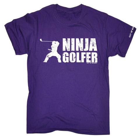 OUT OF BOUNDS - NINJA GOLFER - NEW PREMIUM LOOSE FIT BAGGY T-SHIRT - funny slogan tee (VARIOUS COLOURS) - S M L XL 2XL 3XL 4XL 5XL - by 123t