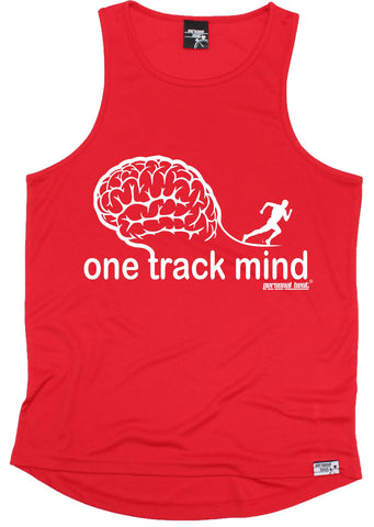 Men's Personal Best - One Track Mind Running Training Vest Casual Funny Jogging Running Tank