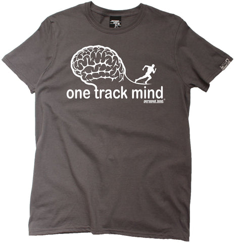 Men's Personal Best - One Track Mind Running T-Shirt Casual Funny Jogging Running Tee